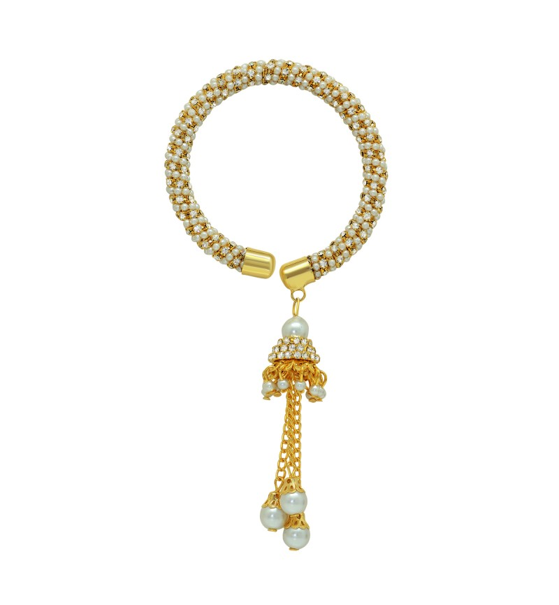 Atasi International Crystal Gold Plated Bracelet for Women