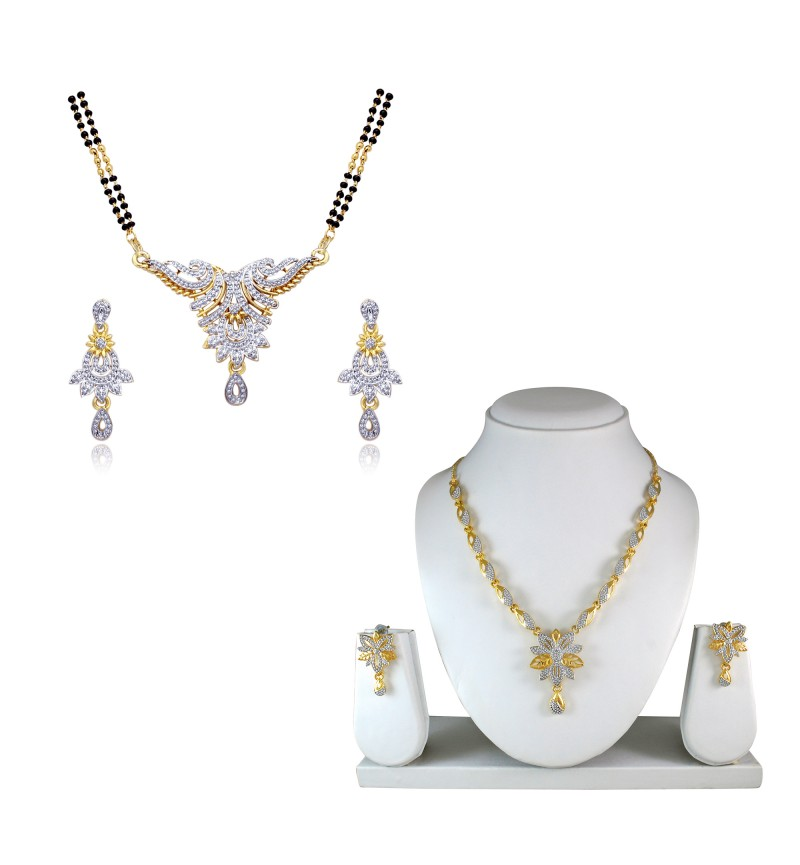 Atasi International Combo Gold Plated Necklace Set for Women