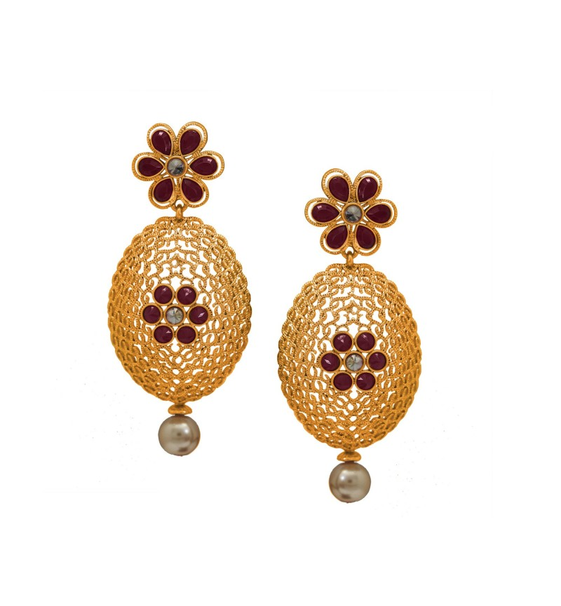 Atasi International Floral Theme Earrings for Women