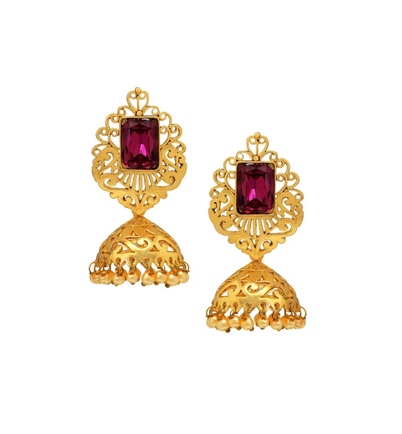 Atasi International Crystal Designer Jhumki Earrings for Women