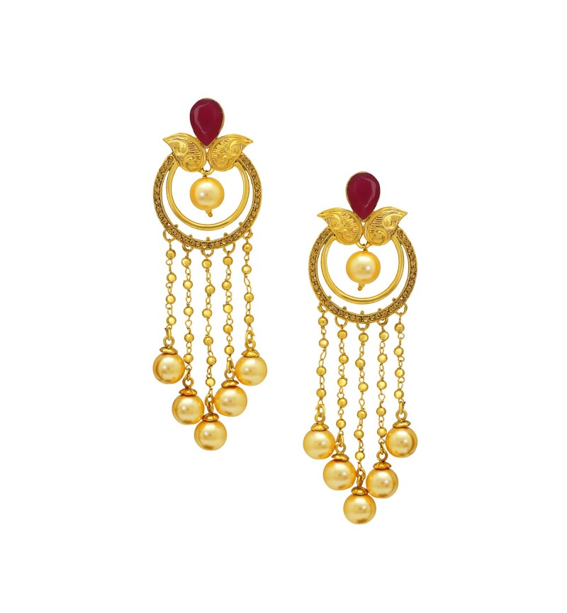 Atasi International Highlight Pearl Latkan Earrings for Women