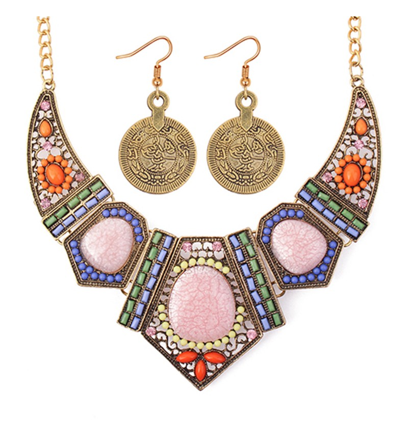Atasi International Party Designer Multicolor Necklace Set for Women