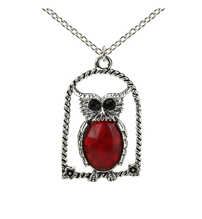 Atasi International Party Designer Owl Silver Plated Necklace Set for Women