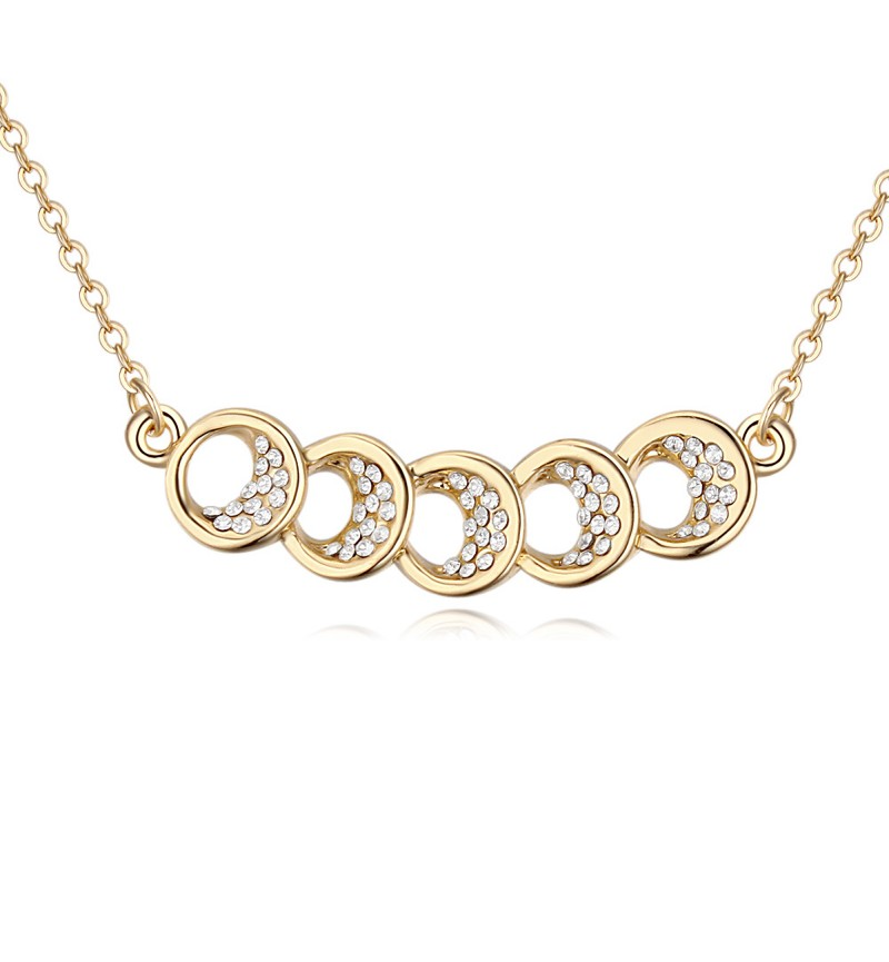 Atasi International Sparkling Diva Gold Plated Necklace Set for Women