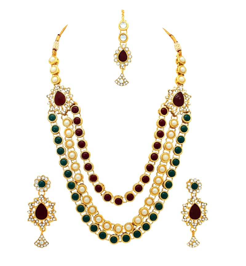 Atasi International Gold Antique Plated Necklace Set for Women