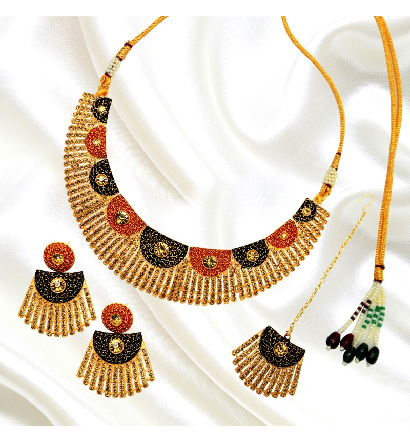 Atasi International Bella Meenkari Necklace Set for Women