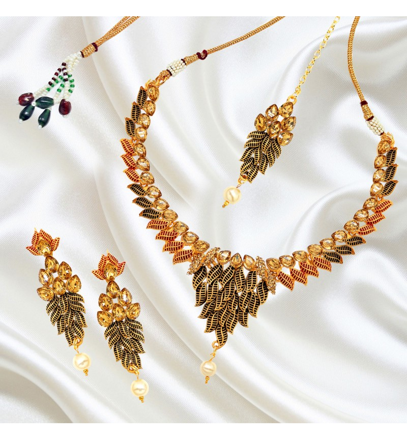 Atasi International Beautiful Designer Meenakari Jewellery Set for Women