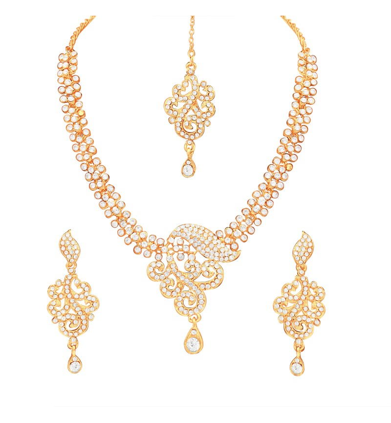 Atasi International Designer Diamond Necklace Set For Women